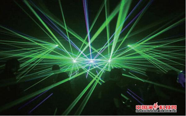 TV lighting and dance lighting design features