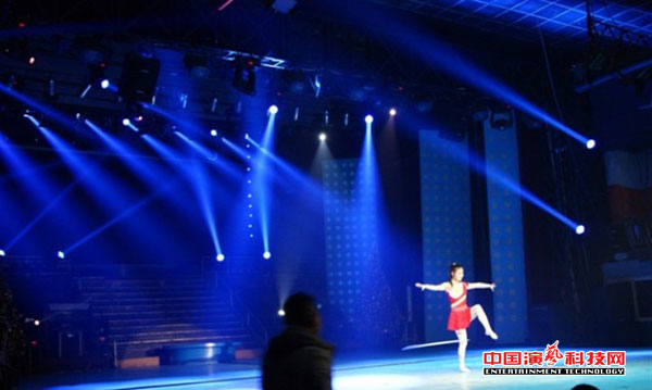 Stage lighting layout dancing effect attention