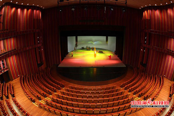 Theater building stage lighting elements