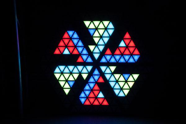 LED Triangle pixel lights