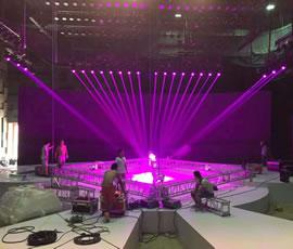 Sicheng stage lighting to help Zhejiang love Wei Di culture large-scale lighting show
