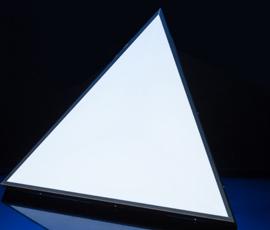LED Naked eye 3D triangular light