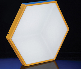 LED Naked eye 3D honeycomb lights