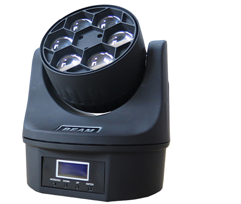 6pcs bee eye led  moving head light
