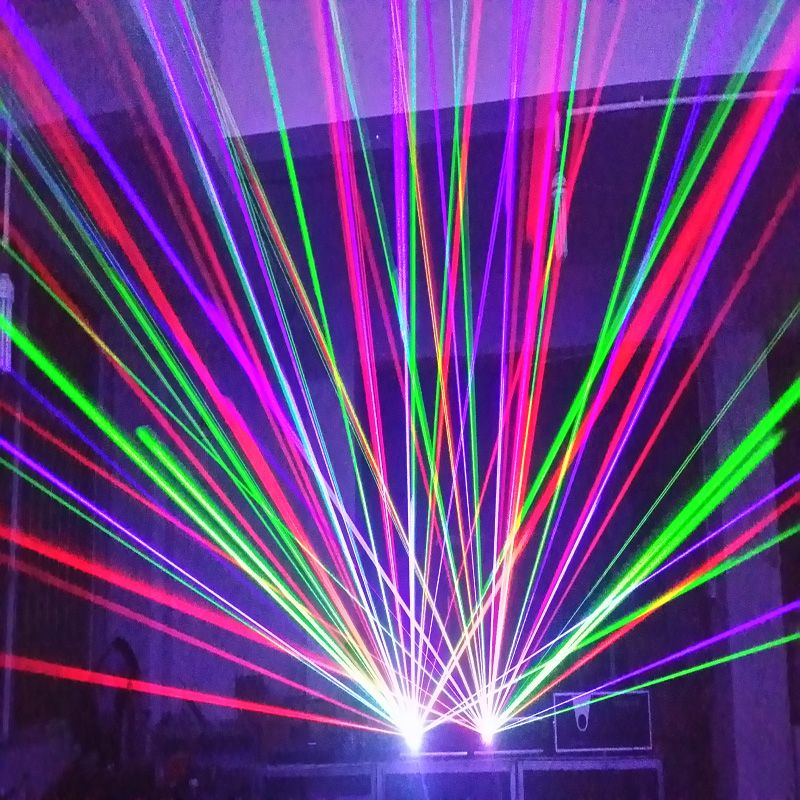 Full color 3W-8W  laser light
