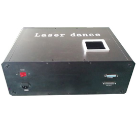 High power single green laser people