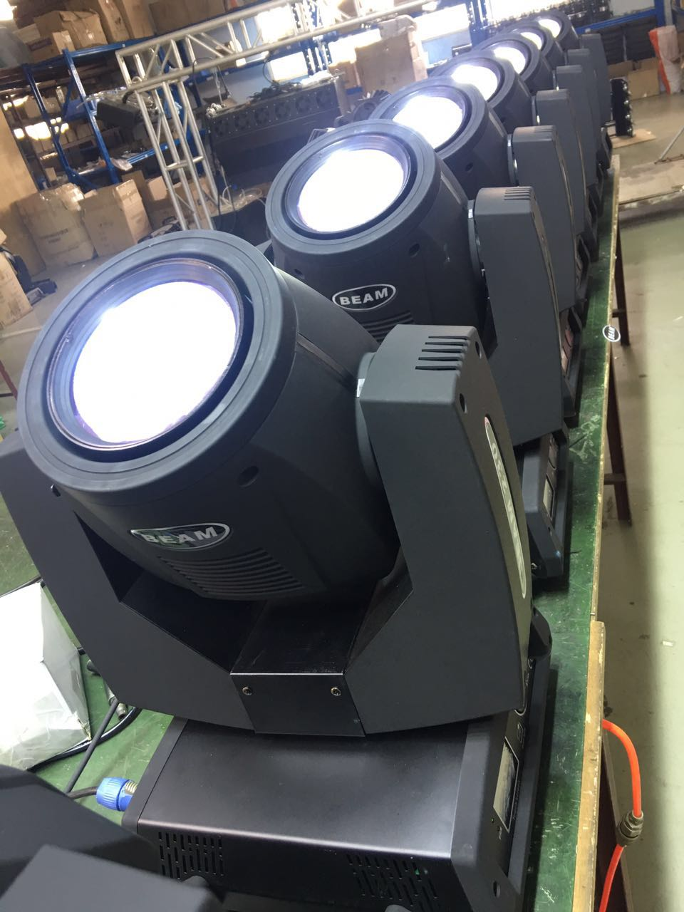 Light beam and moving head light main application?