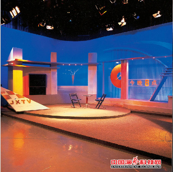 电视灯光及电视美术发展阶梯效果图