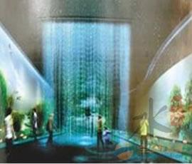 黑龙江花样国际酒店雾屏 雾帘 3D全息效果展出