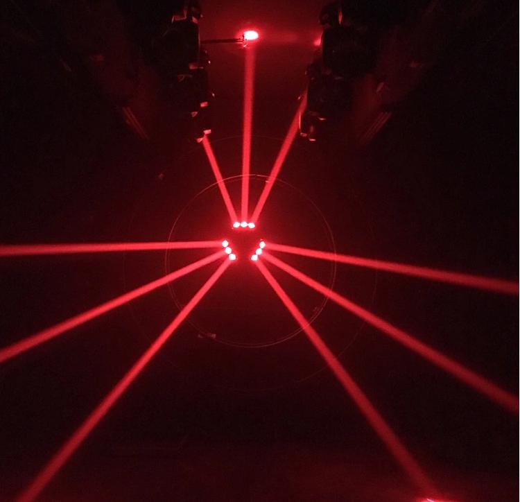 LED九头鸟舞台灯光效果图