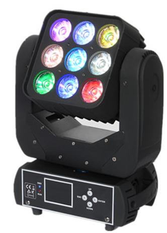 LED9颗矩阵摇头灯