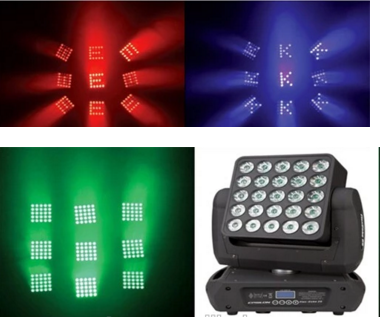 LED摇头矩阵灯25*15W效果图