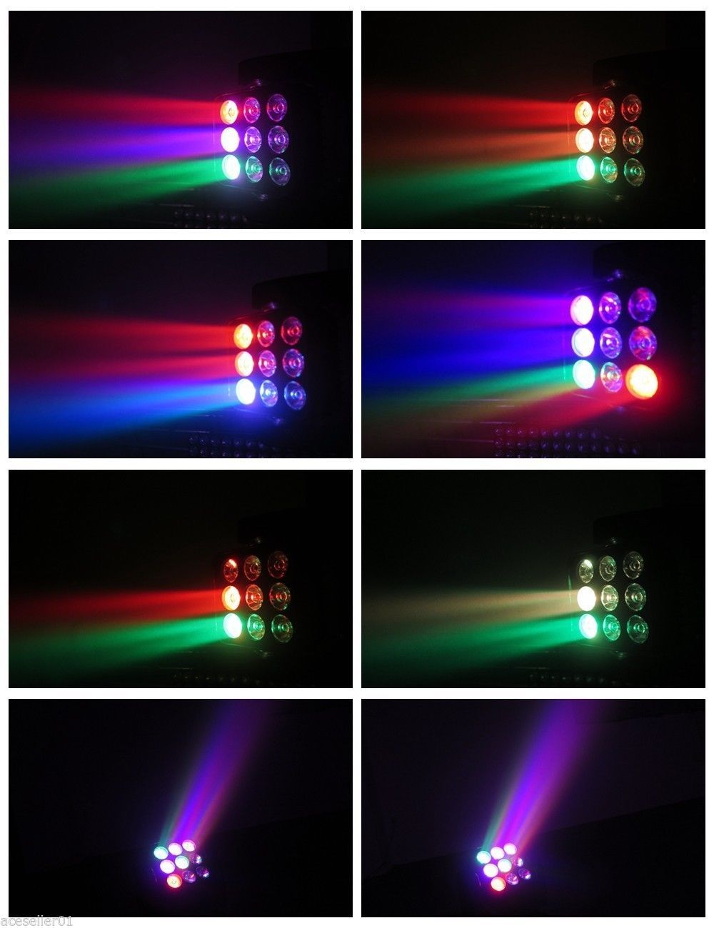 4*10WLED光束染色摇头效果图