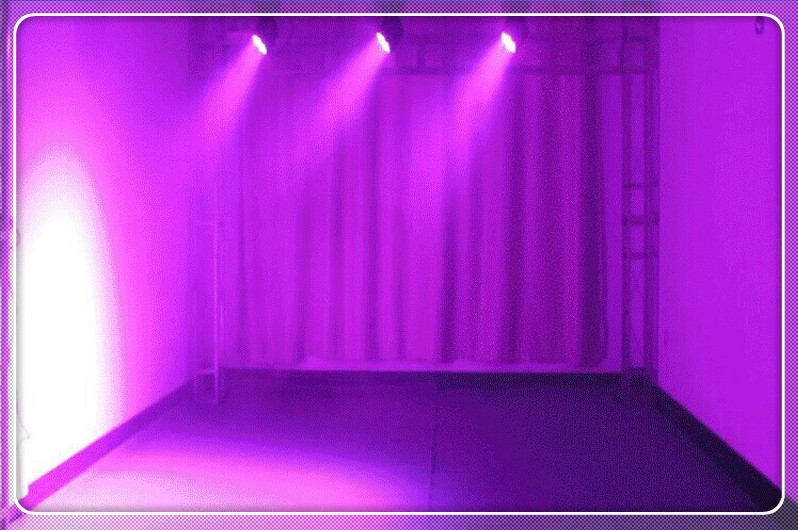 LED7颗小摇头染色灯效果图