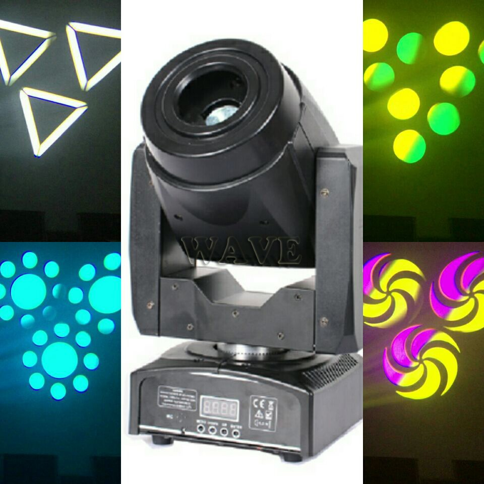 LED60W图案摇头灯效果图