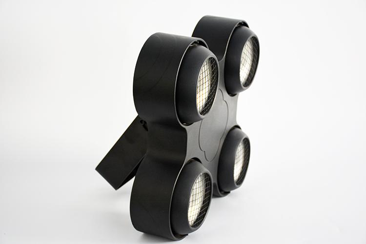 LED四眼防水COB面光灯效果图