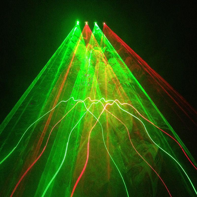 全彩RG红绿4头动画激光灯效果图