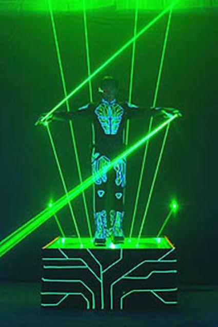 大功率单绿激光人效果图