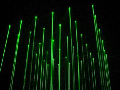 8孔激光雨单绿效果图