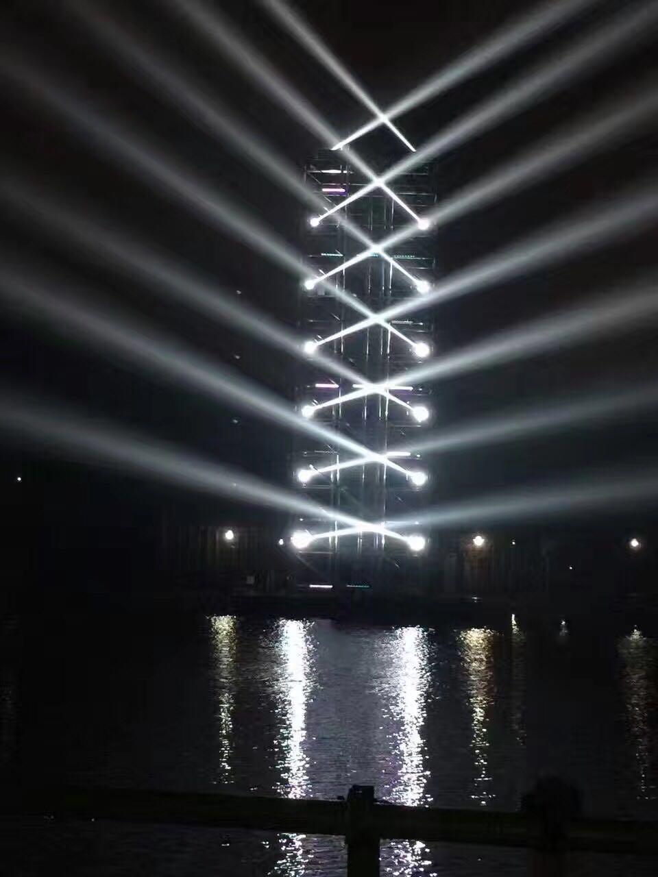 户外怎么应用舞台灯光?效果图