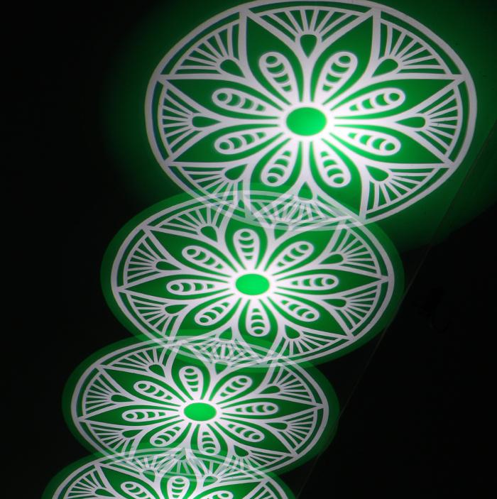 350W摇头光束图案灯新品推介效果图