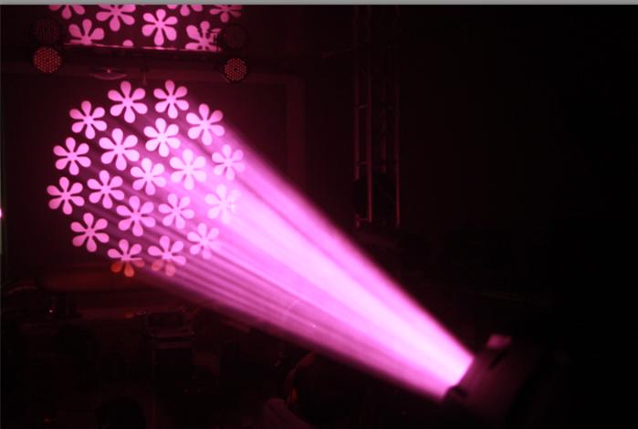 新款350W摇头光束图案灯效果图