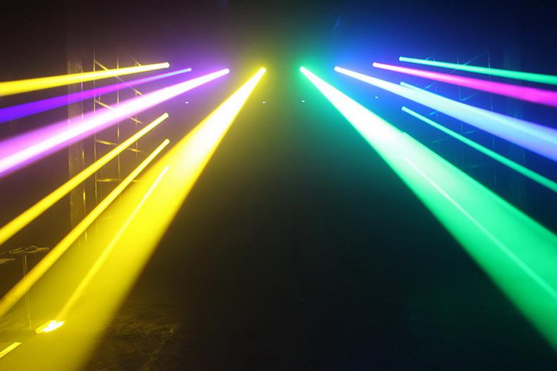 光束灯和摇头灯的实际应用?效果图