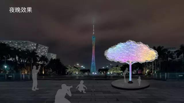 思成灯光见证2017年广州国际灯光节效果图