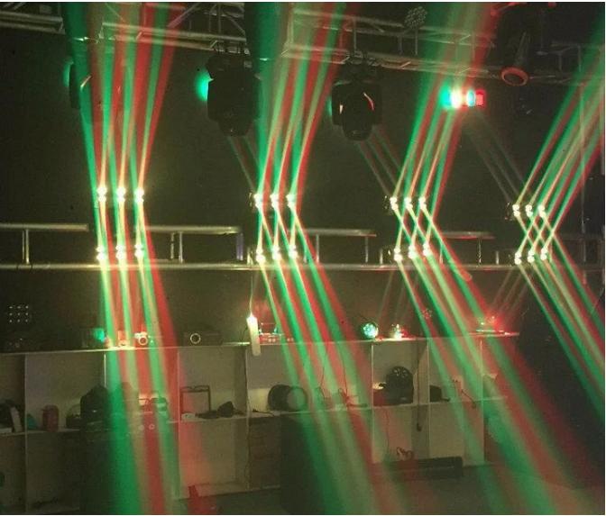 LED16颗无极幻影灯效果图