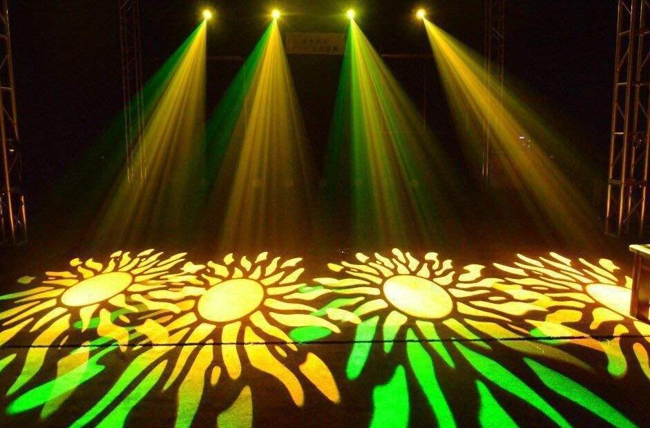 双十一力推舞台灯光350W摇头光束图案灯效果图
