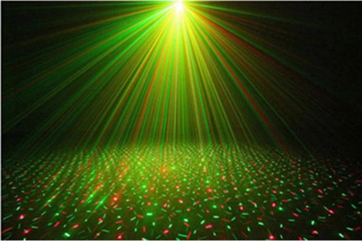 迷你红绿激光灯效果图