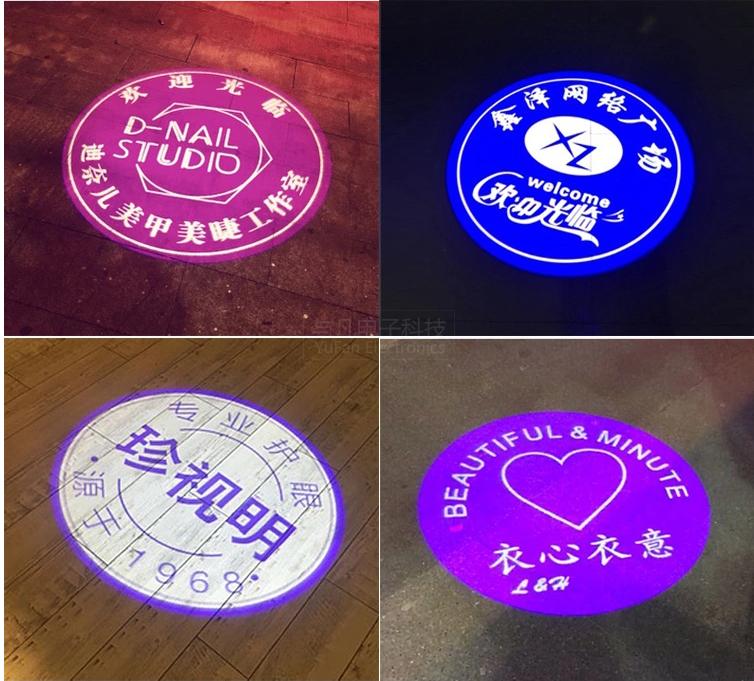 LED高清旋转广告logo投影灯效果图