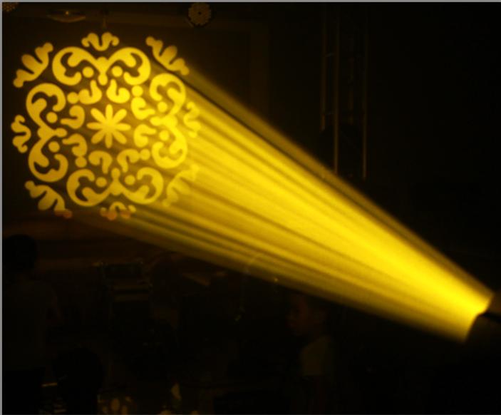 350W摇头光束图案灯故障维修方法效果图