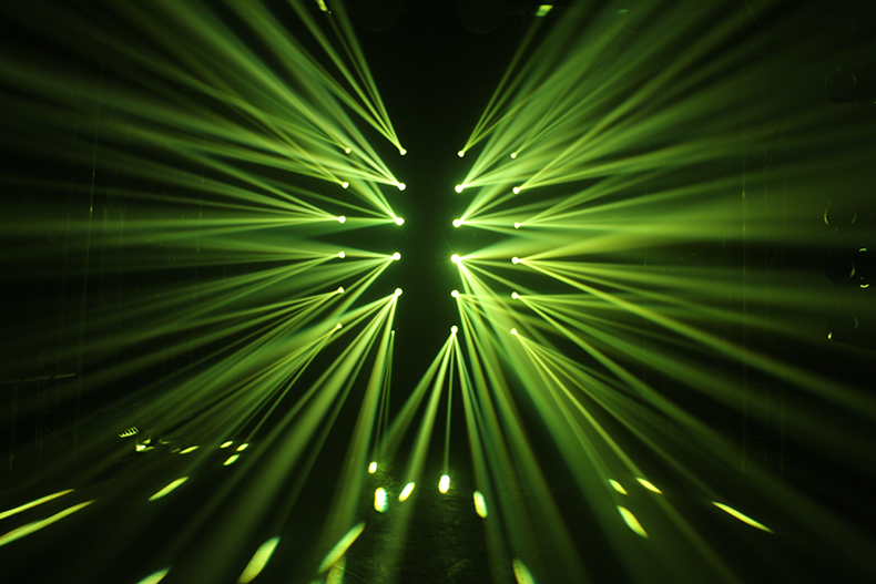 电脑摇头灯的内置点窜技术效果图