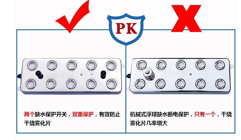 解读雾屏重要部件超声波雾化器效果图