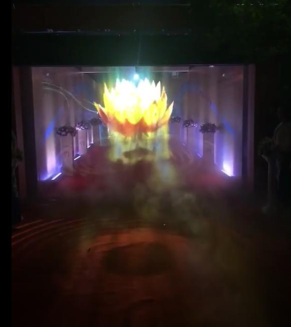 高科技全息3D雾屏 雾帘设备基本参数效果图