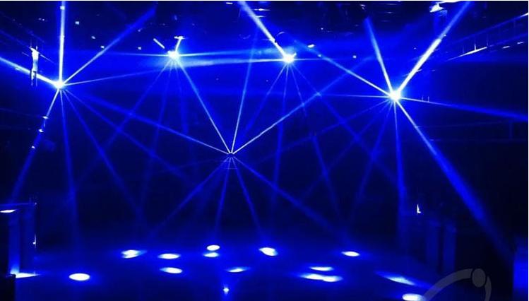 光束灯构造效果图