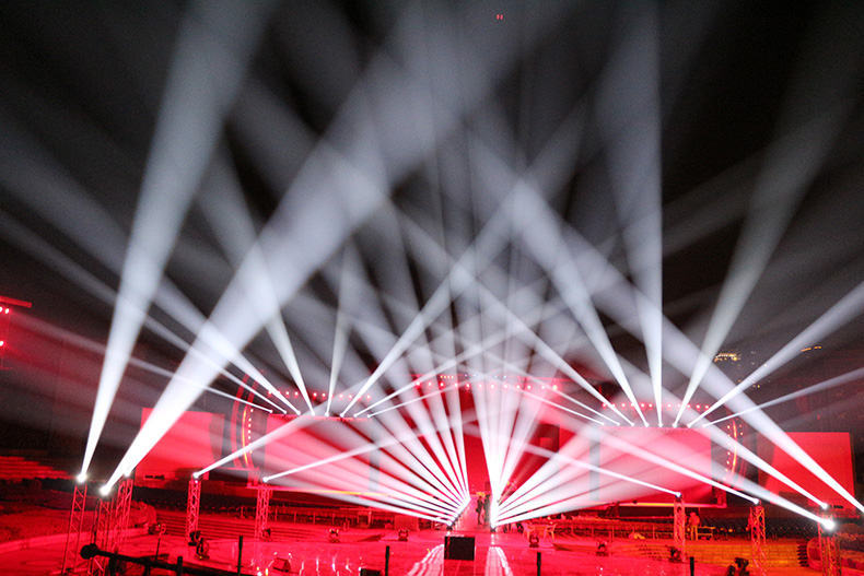 舞台灯光如何链接控台效果图