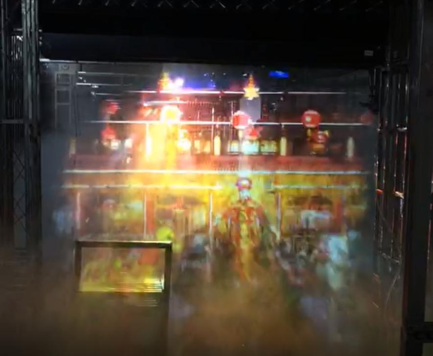 水雾屏/雾幕机工程案例展现效果图