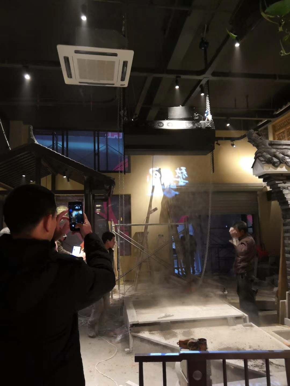 2019年雾幕机投影/雾屏工程案例展示效果与雾屏作用效果图