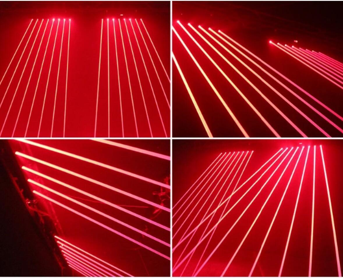 八眼单红激光灯效果图
