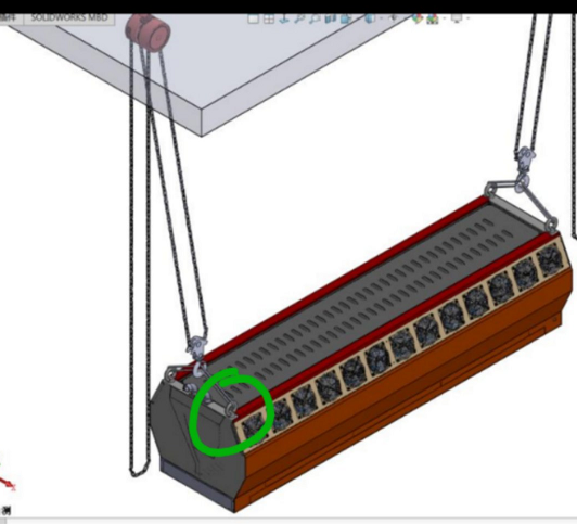 3D雾幕机立体安装展示图效果图