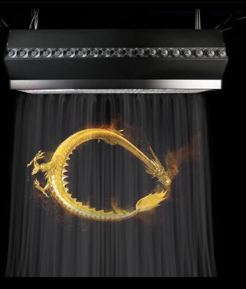 雾屏/雾幕机/水雾机不同规格的展示推介效果图