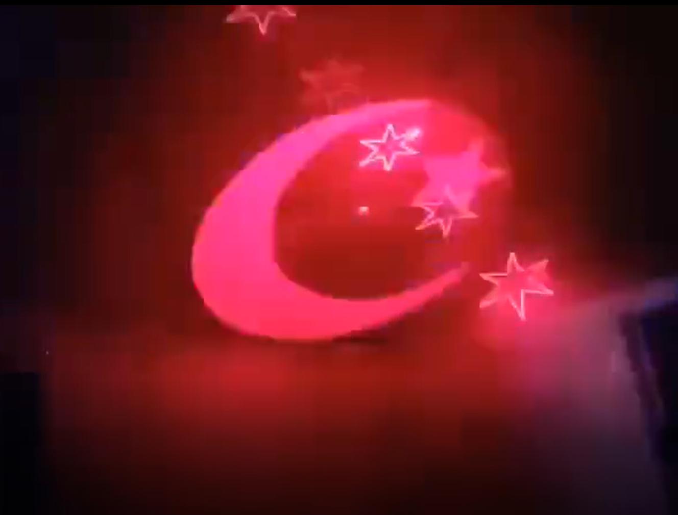 星月激光灯效果图