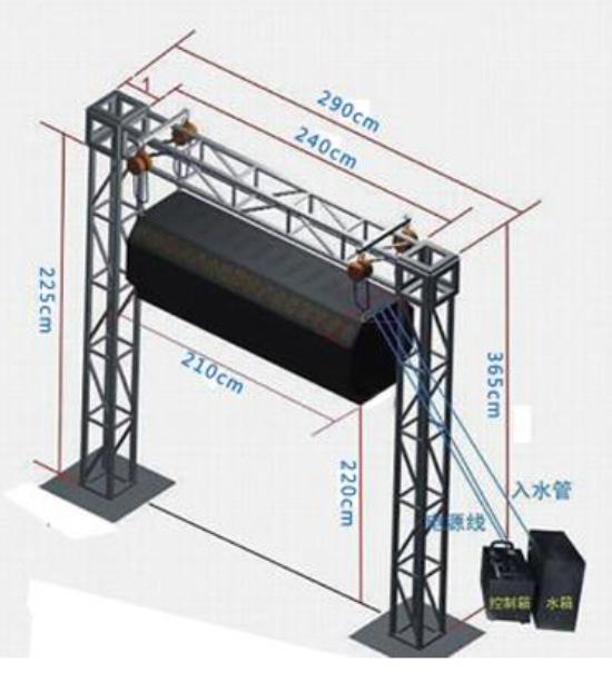喷雾系统3d全息雾幕门安装注意事项效果图