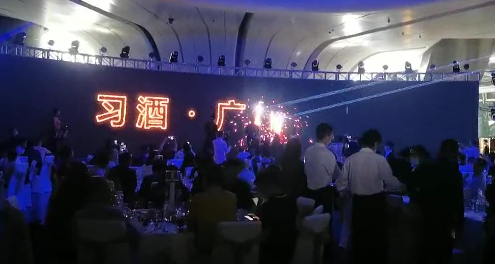 思成灯光助力广州塔习酒品牌广告成功亮相