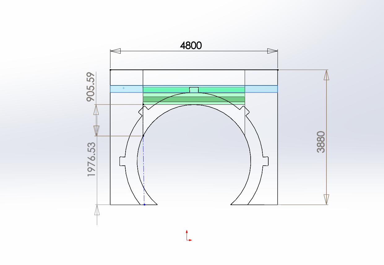 3D全息雾幕机/雾屏/水雾帘投影弧形放置位置展示图