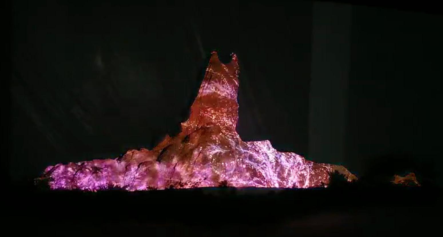 思成灯光为广州红棉国际时装城全息裸眼5D特效提供技术支持效果图